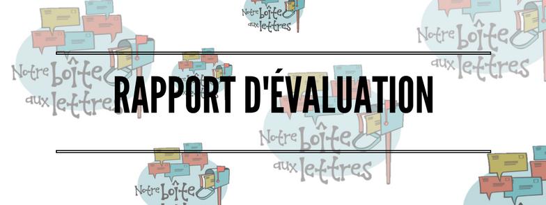 RAPPORT D'ÉVALUATION